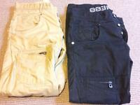 2 Pairs of POLICE 883 engineered leg cargo trousers