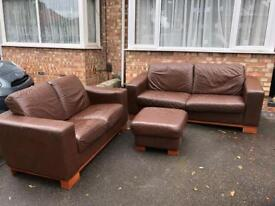 3seater 2seater sofas + poof