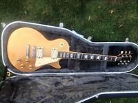 1976 GIBSON LES PAUL DELUXE GOLD TOP LOVELY CONDITION WITH HARD CASE