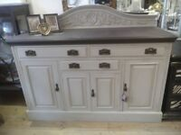 Beautiful painted antique SIDEBOARD.