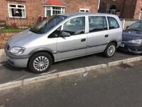 Vauxhall zafira 2003 braking