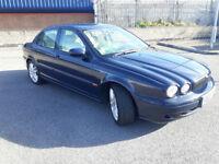 2002(02)JAGUAR X-TYPE 2.5 V6 AUTOMATIC BLUE,CREAM LEATHER,FSH,LOW MILES,LONG MOT,CLEAN CAR