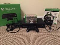Xbox one 1tb games and headphones