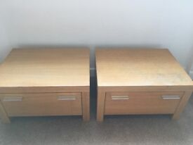 Bedside cabinets wooden next x2