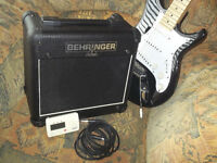 Electric Guitar and 15w Practice Amp