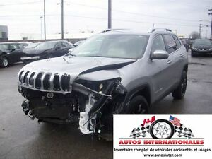 2015 Jeep Cherokee NORTH 4X4 V6 3.2L MAG CAMERA DE RECUL KEYLESS