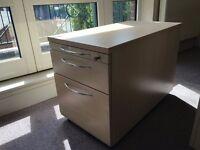 Maple Office Desk Pedestal