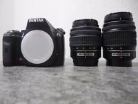 Pentax K-x 12.4mp DLSR with 2 Lenses and Carry Case