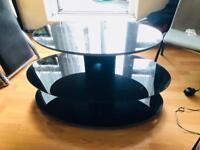 Floating Black TV Stand