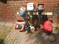 Various outboard engines