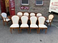 Willis & Gambier extending dining table & 10 chairs * free furniture delivery *