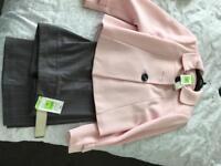 Two piece trouser suite.