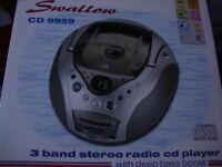 Brand New Roberts 'Swallow' Stereo Radio/CD Player.