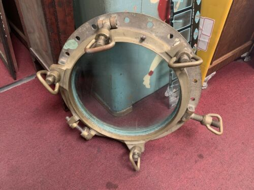 "Vintage 21"" Ship Brass Porthole  "" Watch Video"""