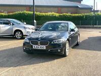 2015 BMW 5 SERIES 520D AUTO – GENUINE MILEAGE, BLACK, Automatic, MOT, F10, SAT NAV ULEZ FREE
