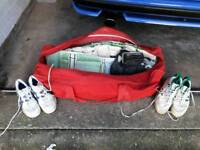 Cricket Shoes, pads and gloves
