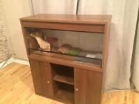 3ft walnut vivarium & cabinet