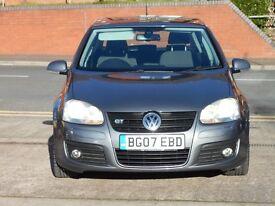 07 VW GOLF 2.0 GT TDI DSG + AUTO + DIESEL + 170 BHP + 5 DOOR