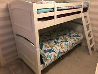 Bunk bed for sale white (from Costco) good quality