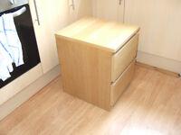Ikea 'Malm' drawer unit, bedside table