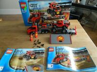 Lego City Monster Truck Transporter 60027 with box. 18 pounds ono