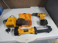 Dewalt Drill And Charger plus Dewalt Torch