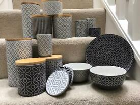 Next Geo kitchen storage jars and other matching items priced individually