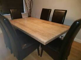Barker & Stonehouse Dining Table & Six Chairs