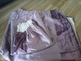 Lilac/purple curtain