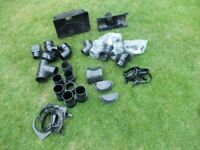 GUTTER/DRAINPIPE ASSORTED FITTINGS BLACK