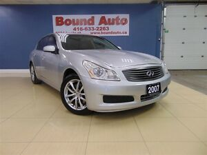 2007 Infiniti G35X FULLY LOADED, NAVIGATION, AWD, SUNROOF, LEATH
