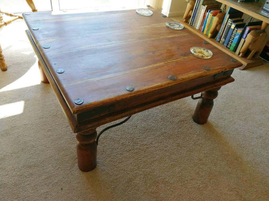 Solid indian rosewood coffee table in bournemouth dorset gumtree solid indian rosewood coffee table geotapseo Choice Image