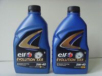 ELF Evolution SXR 5W-40 Fully Synthetic Engine Oil for Renault - 2x 1L