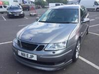 2006 saab 93 2.0t automatic with paddle shift 2 tine leather long mot gorgeous condition touring wow