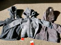 Boys 3-6 month hoody/coat bundle (2 brand new)