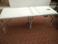 Massage Table Portable Folding Massage Bed Towel Rack White