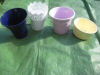 Three Various Plant Pots - £2.00 each