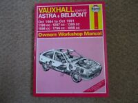 Haynes Manual, Vauxhall Astra and Belmont, 1984-1991