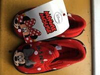 MINNIE MOUSE red cosy slippers for infant - size 4 New with tags