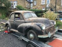 Barn find Morris minor 1957 split screen