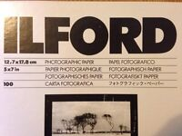ILFORD glossy multigrade 4 Photographic (darkroom) Paper 5'x7' UNOPENED