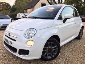 2014 Fiat 500 1.2 S £20 Tax *Watch YouTube Video* FSH Long MOT & Brakes & Service Blue Interior VGC