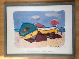 Large seaside print - Two Boats
