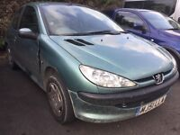 PEUGEOT 206 2.0 HDI, TAX £30, MOT MAY 2017