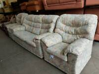 G-plan three seater sofa with recliner and chair