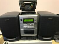 AIWA MUSIC SYSTEM CASSETTE,CD PLAYER, RADIO MODEL LCX110