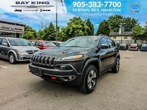2016 Jeep Cherokee TRAILHAWK 4X4, BACKUP CAM, 8.4 TOUCHSCREEN