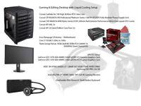 Gaming and Editing PC Liquid setup