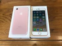 iPhone 7 32GB Rose Gold Factory Unlocked Excellent Condition Boxed with Genuine Charging Lead