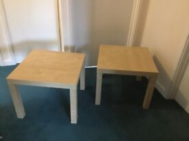 TWO IKEA LACK side tables - Beech coloured